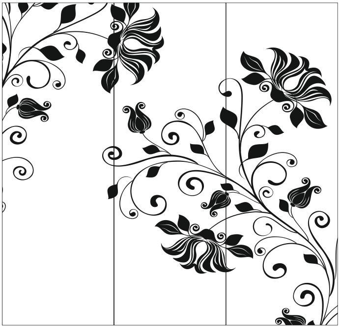 Абстракция картинка для шкафа в векторе
